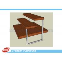 Wholesale Pant / Clothes 3 Shelf Chipboard Display Stands 3 Layers With Metal Tube from china suppliers