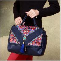 Wholesale 3 ways women bag shoulder bag messenger bag and backpack embrodery handmade bag with tassle from china suppliers