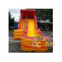 Wholesale Outdoor / Indoor PVC Volcano Inflatable Water Slide With Swimming Pool EN14960 from china suppliers