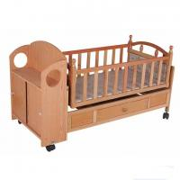 Wholesale Customized Wooden Automatic Baby Swing Bed Crib , baby sleeping cot from china suppliers