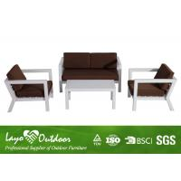 Wholesale BSCI 4PCS Patio Outdoor Furniture KD Sofa Set Comfortable With Aluminium Frame from china suppliers