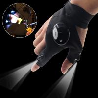 Buy cheap AU LED Light Night Fishing Gloves Outdoor Rescue Emergency Repairing Work Gloves from wholesalers