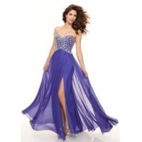 Wholesale China Evening Dress/ 2014 Blue Column Chiffon Party Prom Dresses for women,ladies from china suppliers
