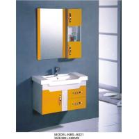 Wholesale 80 X 48 / cm Modern PVC bathroom cabinet 15mm door thickness PVC board from china suppliers