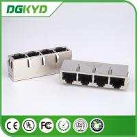 Wholesale 1 X 4 Ports Transformer Rj45 Lan Jack , 10/100BASE secure rj45 connector without LED from china suppliers