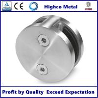 Quality Stainless Steel Round Glass Clamp Mirror Polished Fit 8-12.76mm Glass for Staircase Glass Railing for sale