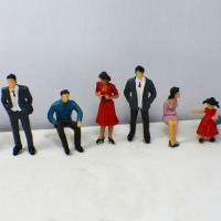 Wholesale Plastic Scale Model Painted People Figures for HO , OO , G N , T Train layout P25-6 7CM from china suppliers