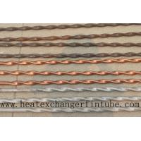 Wholesale Twisted Stainless Steel , Finned Copper Tube With Higher Heat Transfer Coefficient from china suppliers
