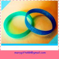 Wholesale best selling blank rubber silicone bracelet bangles from china suppliers