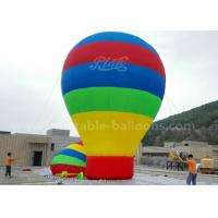 Quality Customized 8m Advertisement Colorful Ground Balloon Inflatable With Banner Printing for sale