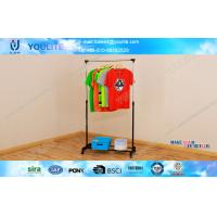 Wholesale House Furniture Retractable Metal Clothes Rack on Wheels Sturdy and Space Saving from china suppliers