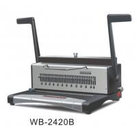 Quality Wire Electric Binding Machine 120 Sheets For Notebook / Workbook WB-2420B for sale