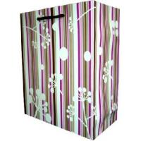 Wholesale Recycled Laminated Coloured Paper Carrier Bags With Twisted Handles With OEM / ODM Design from china suppliers
