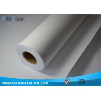 "Wholesale Medium Textured Polyester Canvas Rolls Matte Bright White 24"" 36"" 44"" 50"" 60"" from china suppliers"