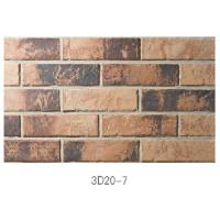 Wholesale 3D20-7 Eco - Friendly Brick Veneer Wall , Sintered 3D Exterior Brick Veneer Panels For House Building from china suppliers
