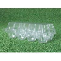 Wholesale PVC Clear Plastic Egg Cartons , Transparent 8 Cavities egg holder tray from china suppliers