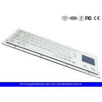 Wholesale Brushed IP65 Kiosk Metal Industrial Keyboard With Touchpad Panel Mount From The Back from china suppliers