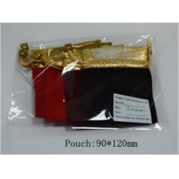 Wholesale Drawstring Red Small Jewelry Gift Bags / Velvet Jewelry Pouches Logo Customization from china suppliers