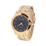 Wholesale Golden Alloy Black / White Dial Mens Quartz Watches Business Type Geneva Quartz from china suppliers