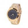 Buy cheap Golden Alloy Black / White Dial Mens Quartz Watches Business Type Geneva Quartz from wholesalers