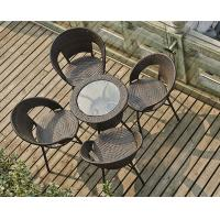 Wholesale rattan set tempered glass square table outdoor furniture from china suppliers