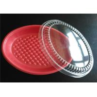 Wholesale PP Plastic Takeaway Trays , Four Compartment Food Trays With Lids For Keep Food Clean from china suppliers
