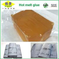 Wholesale EVA Brown Transparent Industrial Hot Glue , Anti Yellowing Hot Melt Glue from china suppliers