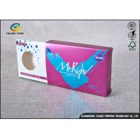 Quality Purple Decorative Cardboard Boxes , Gift Card Box Three Display Small Windows for sale