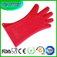 Quality kitchen accessories designer fabric design kitchen heat resistant microwave silicone oven glove for sale