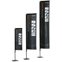 Wholesale 2.7 - 4.3m Rectangular Beach Flag Banner With Fibreglass Rods / Carry Bag from china suppliers