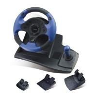 Wholesale Double Vibration Feedback Driving Game Steering Wheel Compatible Window 98 / Me from china suppliers