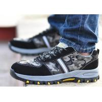 China Lace Up Lightweight Industrial Safety Shoes Mesh Fabric Camouflage Color for sale