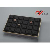 Wholesale Ring / Jewelry Display Trays 24 Slots Pu Leather Stackable With Acrylic Cover from china suppliers