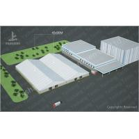 Wholesale 8000m² Big Logistics Outdoor Warehouse Tents Ridge Shape With Electric Roller Gate from china suppliers