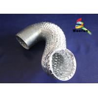 Wholesale Silver 8 Inch Aluminum Flexible Duct , Fire Rated Flexible HVAC Duct from china suppliers