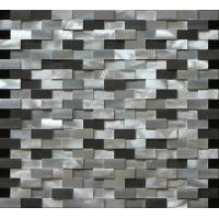 Wholesale Black and silver rectangle mosaic metal no gap different height 3D effect from china suppliers