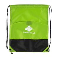 Wholesale Waterproof Polyester Drawstring Bag Green Drawstring Backpack Personalized from china suppliers