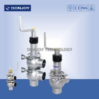 Wholesale Stainless steel sanitary manual reversing seat valve with rotary handle of single valve seat from china suppliers