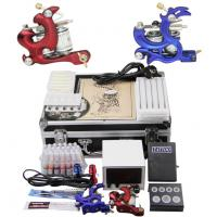 Wholesale Multi - Function School Starter Tattoo Kits With LCD Power Supply Voltage Regulator from china suppliers