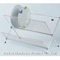 Wholesale Beautiful X shape durable 2-tier dish drying rack folding metal wire Dish rack PT-DR005 from china suppliers
