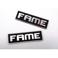 Quality Customised Paint Black Embossed Metal Tags Logo With Diamond Knife Grain for sale
