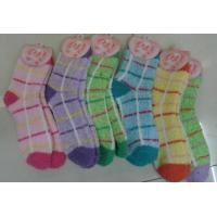 Wholesale Compare Lady Stripe Fuzzy Socks  from china suppliers