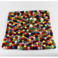 Wholesale felt ball coasters, 100%woolen felt ball mat, felts products from Nepal from china suppliers