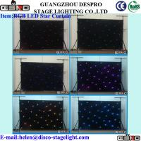 Wholesale Wedding Decoration LED Star Curtain White LED Backdrop Light from china suppliers