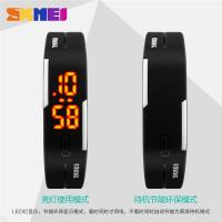 Wholesale Thin Digital Small Led Digital Watch Black 3 ATM Waterproof For Boys from china suppliers