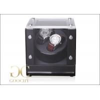 Wholesale Clear Mineral Glass Battery Powered Dual Automatic Watch Winder DC 3V 1.5A from china suppliers