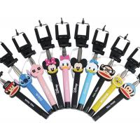 Wholesale selfie stick ,cartoon selfie stick ,pocket selfie stick,cute cartoon monopod with cable from china suppliers