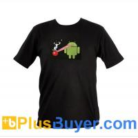 Wholesale Sound Activated EL T-Shirt - XL (Android Laser Beams Apple Design) from china suppliers