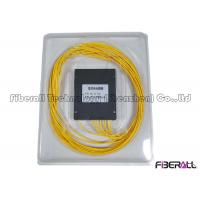 Wholesale GPON ABS Fiber Optic PLC Splitter For Rack Mounted Patch Panel 1260nm - 1650nm from china suppliers