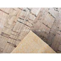 Wholesale Heat Insulation Colorful Soft Natural Cork Leather Fabric , 0.6mm Thick from china suppliers